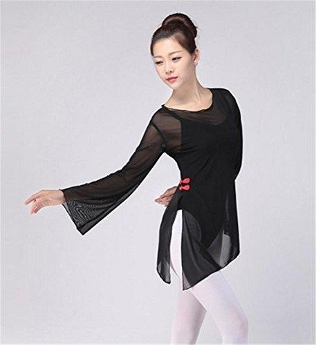 formation des amples robe / danse ballet formation tops Black