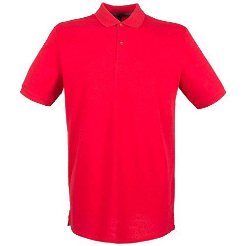 Henbury Herren Modern Poloshirt Classic Red