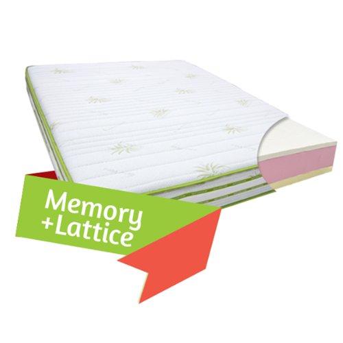 Materasso-in-Memory-e-Lattice-Fuori-Misura-180-x-200-Cm-Alto-25-cm-con-lato-invernale-ed-estivo