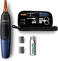 Philips - Recortador de vello, nariz y orejas, resistente al agua