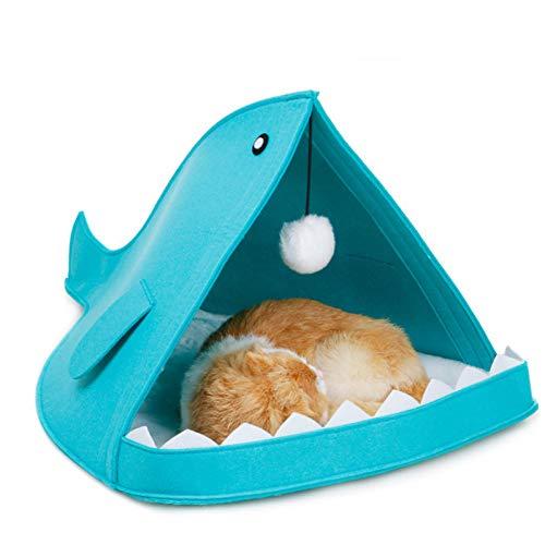 WWSSXX Kreative Nette Haustierbett Form Hund Käfig Mit Hängenden Haarballen All Season Atmungsaktive Katze Haus Haustier Schlafzubehör