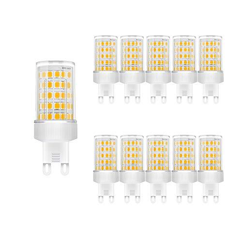Lampadina LED G9 10W, Equivalenti a 80W, SMD 2835 LED, Lampade a Risparmio Energetico,G9 LED Bianca Calda 3000K,AC 220-240V,800 Lumen, Non Dimmerabile, Pacco da 10