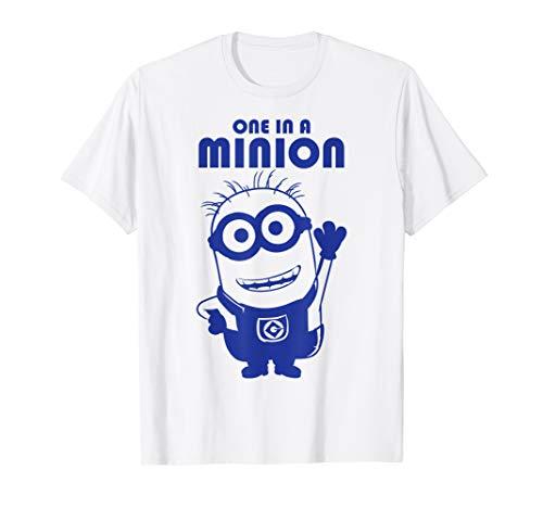 Despicable Me Minions One In A Minion Blue Minion Portrait T-Shirt (Shirt Minion One A In)