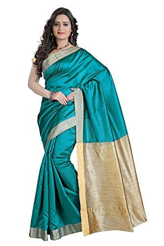 VASTRAKALA Cotton Silk Saree With Khicha Blouse and Pallu(Blue)