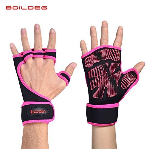 Preisvergleich Produktbild Unisex-Fitnesshandschuhe Rutschfeste,  atmungsaktive Trainingshandschuhe für Kurzhanteln (Color : Red,  Size : Large size (more than 130 kg))