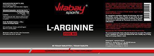 L-Arginin 3000 hochdosiert – 90 Tabletten deutsches Qualitätsprodukt, allergikergeeignet - 2
