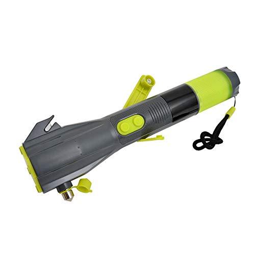 Handheld Taschenlampe Multifunktions-Sicherheitshammer Taschenlampe Feuerleiter Hammer Sicherheit Auto liefert