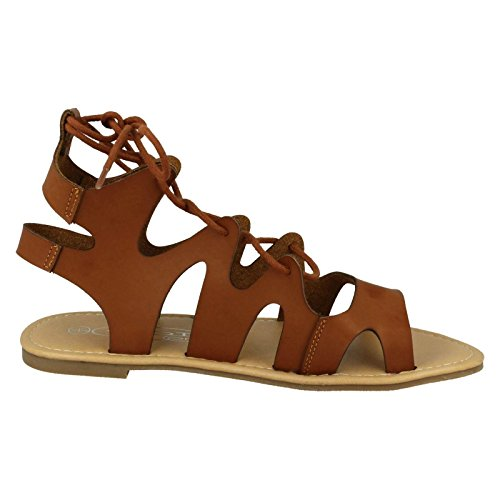 Spot On , Gladiator femme Marron - Brun