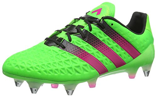adidas Ace 16.1 SG, Chaussures de Foot Homme Vert (Solar Green/Shock Pink/Core Black)