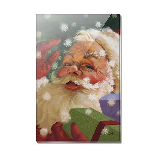 (Kühlschrankmagnet aus Acryl, rechteckig, Motiv: Hello Santa Claus)