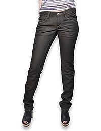 Jean femme coupe slim fit BLACK DE LA ROSA - Jean femme tissu enduit
