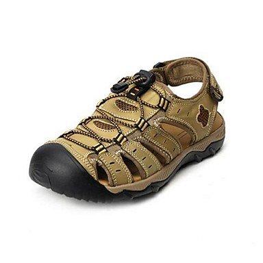 Uomini sandali estivi Casual in pelle tacco piatto altri Tan marrone Khaki Altri Khaki
