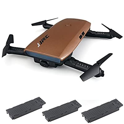 JJRC H47 Elfie Foldable Selfie Mini Drone FPV Quadcopter & Two Extra Battery