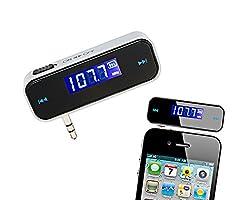 Ce transmetteur FM sans fil pour iPhone/Android smartphones est idéal pour le streaming de musique à stéréo de voiture sans Bluetooth ou prises jack audio. Configurez facilement: 1. Allumez votre autoradio et réglé pour une fréquence vide. 2. Défini...
