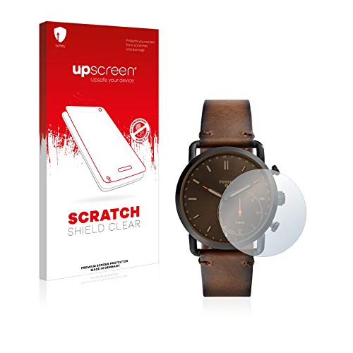 upscreen Scratch Shield Displayschutzfolie für Fossil Q Commuter Schutzfolie – Kristallklar, Kratzschutz, Anti-Fingerprint