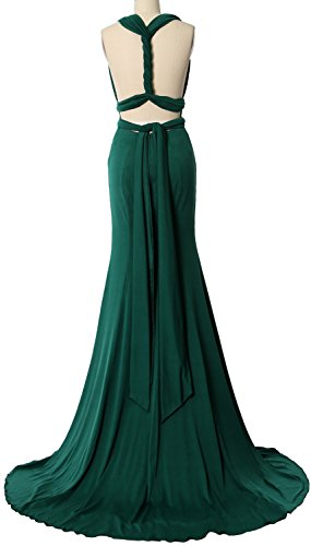 MACloth Convertible Wrap Multi Way Bridesmaid Dress Maxi Evening Formal Gown Ivoire