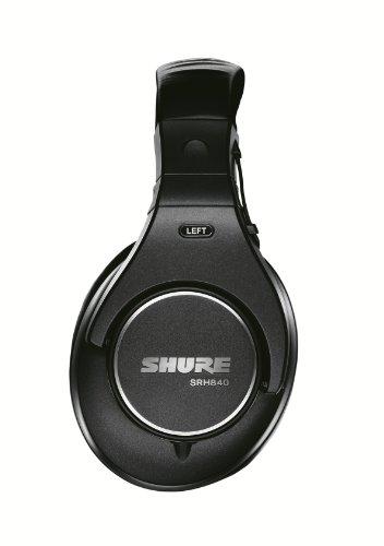 Shure SRH840, geschlossener Kopfhörer / Over-ear, schwarz, Premium, Referenz-/Studiokopfhörer, geräuschunterdrückend, faltbar, Kabel austauschbar, Frequenzgang (Bässe, Mitten, Höhen) präzise angepasst - 3