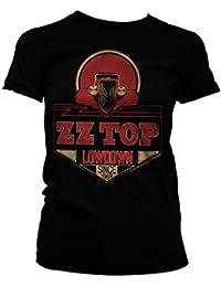 ZZ-Top Oficialmente Licenciado Lowdown Since 1969 Camiseta Para Hombre (Negro)