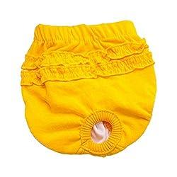 Pet menstrual pants - TOOGOO(R)Pet Puppy slip hygienic sanitary menstrual pants underwear diaper, Yellow L