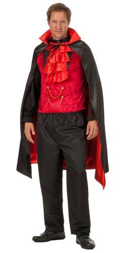 Kostüm GRAF Dracula Vampir Teufel Dämon Horror Halloween Karneval Gothic Vampirkostüm Groesse: XXL/XXXL ()