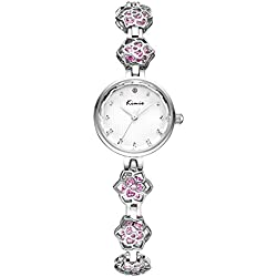 diamond watch/ simple flower watches/Fashion personality Bracelet Watch-pink