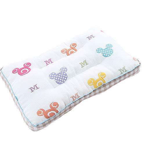 Babykissen Memory Schaum Kinderkissen Atmungsaktiv Babykopfkissen Anti-Allergen Baby Pillow Gegen Kopfverformung Kissen Unisex Kissen Gegen Plattkopf(Baby,KleinesKind,Kind) -