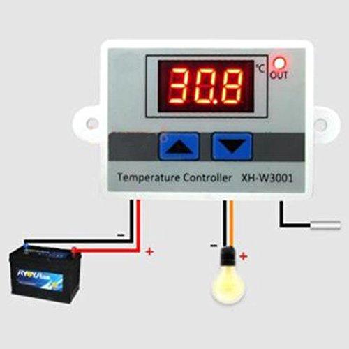 LED Digital Temperatur Controller Schalter 10A Thermostat Control Switch + Wasserdicht Sensor Sonde, Dual Heizung Kühlung Control Funktion -