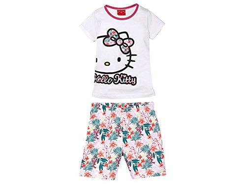 Hello Kitty Mädchen Shorty Pyjama Schlafanzug -