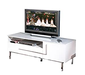 Links 50700670 Deltino III Meuble TV MDF Blanc Brillant 145 x 47 x 49 cm