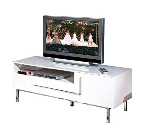 Links 50700670 TV-Kommode Deltino III MDF, Hochglanz, 145 x 47 x 49 cm, weiᄃ