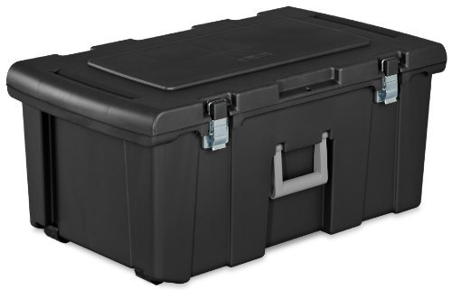 sterilite-18429002-footlocker-lid-and-base-with-titanium-handle-black-by-sterilite