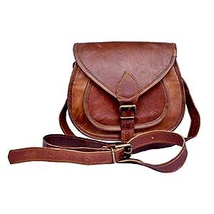 Sankalp Leather Handgeschöpft Authentische leder Vintage Braune Umhängetasche für Frauen, NEU, 100% echtes Leder mit Kostenlosem Versand, 2019 SALE- nur noch 2 TAGE