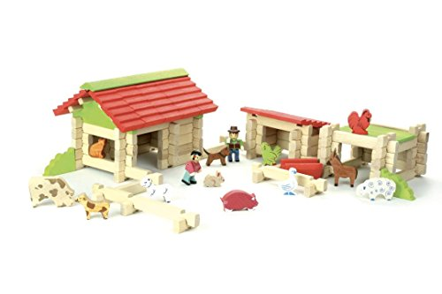 JeuJura JeujuraJ8234 - Wooden Farm Box (120 Parts)