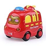 Ouken 1pc Cute Dessin animé bébé Voiture Jouet Son et légère inertie Musique Petite Voiture Jouet (Camion de Pompiers)