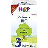 Hipp Biologique Lait 3 Bio Croissance Dès 10 Mois 4 Boîtes de 800 g