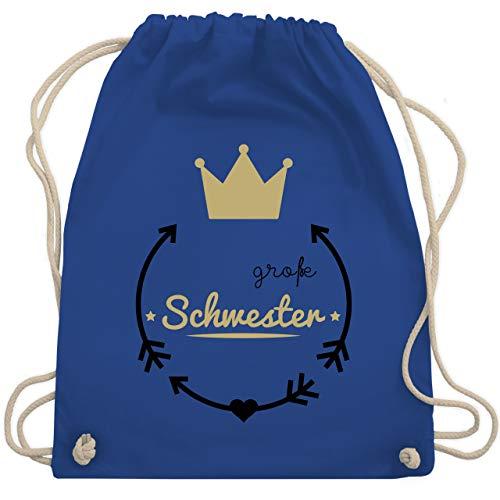 d - Große Schwester - Krone - Unisize - Royalblau - WM110 - Turnbeutel & Gym Bag ()