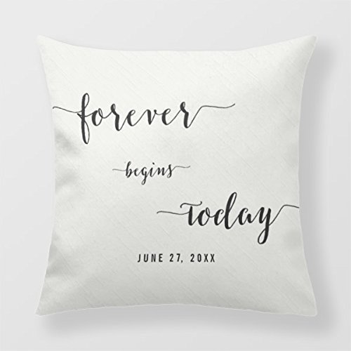 Square Pillow 18 Calligraphy Personalized Square Cushion
