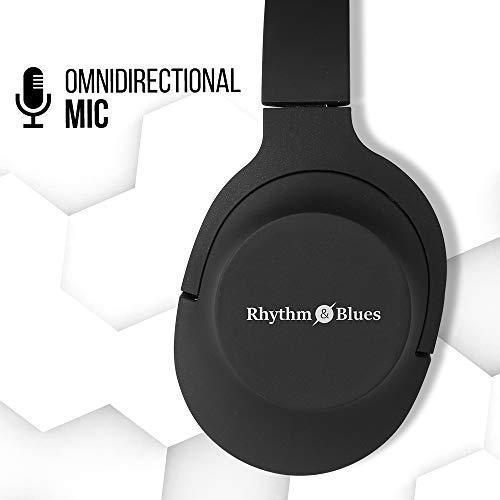 Rhythm&Blues A300 On-Ear Wired Headphones with mic (Black) Image 8