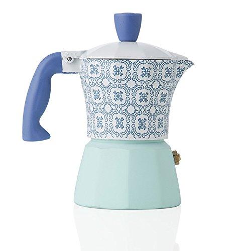 Cafetera 1 taza de aluminio Brandani Nueva colección Panarea