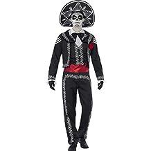 Traje hombre fiesta de los muertos Disfraz Día de los muertos S 44/46 Caracterización La Catrina mexicana Traje mariachi hombre Atuendo Halloween Outfit calavera noche de brujas