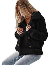POLPqeD Giacca Casual da Donna Outwear Caldo Inverno Parka Cappotto da  Donna Soprabito Giacca di Peluche con Cerniera Lampo a… bc539863707a