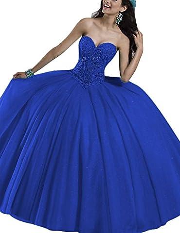 HUINI Crystal Liebsten Ballkleid Quinceanera Kleider Sequins T¨¹ll Abendkleider Size 52