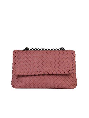 bottega-veneta-womens-405739v00165763-pink-leather-shoulder-bag
