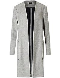 Ex-Store Ladies Womens Open front Wool blend Blanket Pocket Coat Grey Beige Camel XS-XL