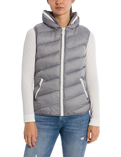 Bench Damen Outdoor Weste CORE Puffer Vest Grau (Sharkskin Gy11315) Large (Herstellergröße: L)