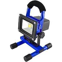 MCTECH 10W luz blanca recargable portable de la mano de la lámpara LED de la batería del reflector lámpara ligera que acampa de la linterna Trabajo pesca al aire libre Linterna camping Taller reflector IP65 (10W luz blanca fría)