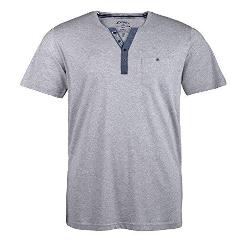 Jockey hellgrau meliertes T-Shirt Übergröße Grau