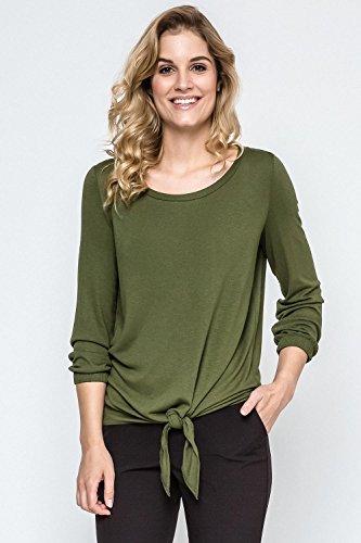 Ennywear 240076 Blouse Feminine Élégante Top Qualité Manches Longues- Fabriqué En UE vert foncé