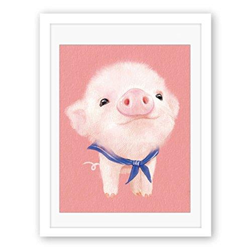 Albeey Leinwanddrucke Schwein Malerei Kunst Wand Bild Dekor Wohnzimmer Schlafzimmer Kinderzimmer Wanddekoration