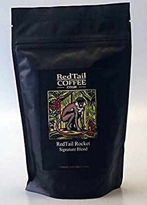 RedTail Rocket Super Crema Espresso Coffee Beans Specially Blended for a Powerful Caffeine 'Kick' 250g by RedTail Coffee